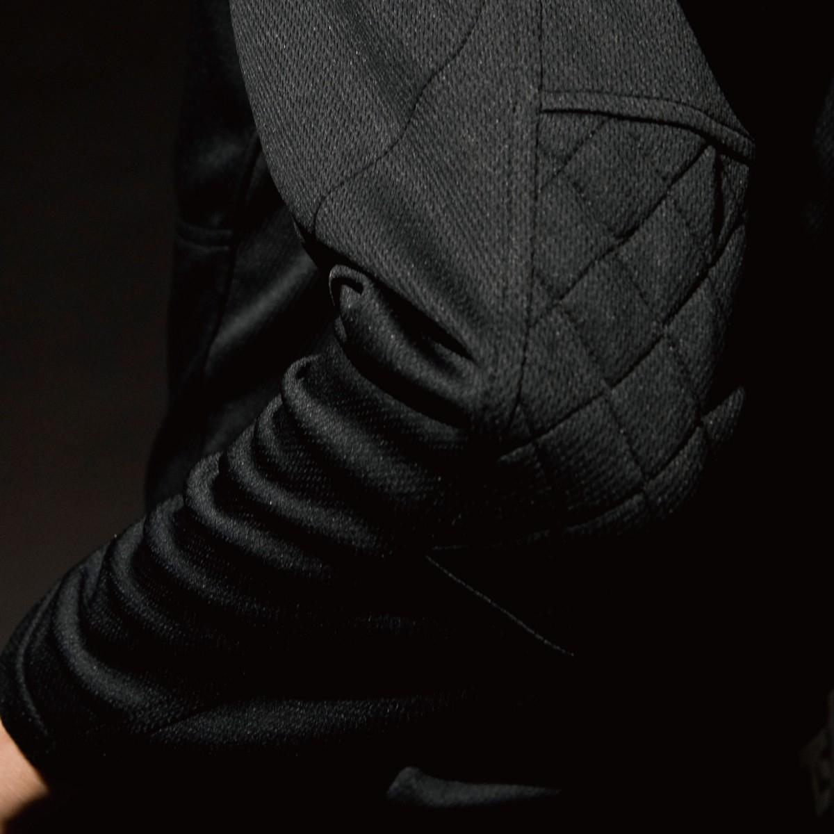 846305 ワークニットロングシャツ 肘 刺し子の補強仕様で丈夫です。