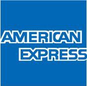 5大ブランドのクレジットカード利用できます。AMERICAN EXPRESS