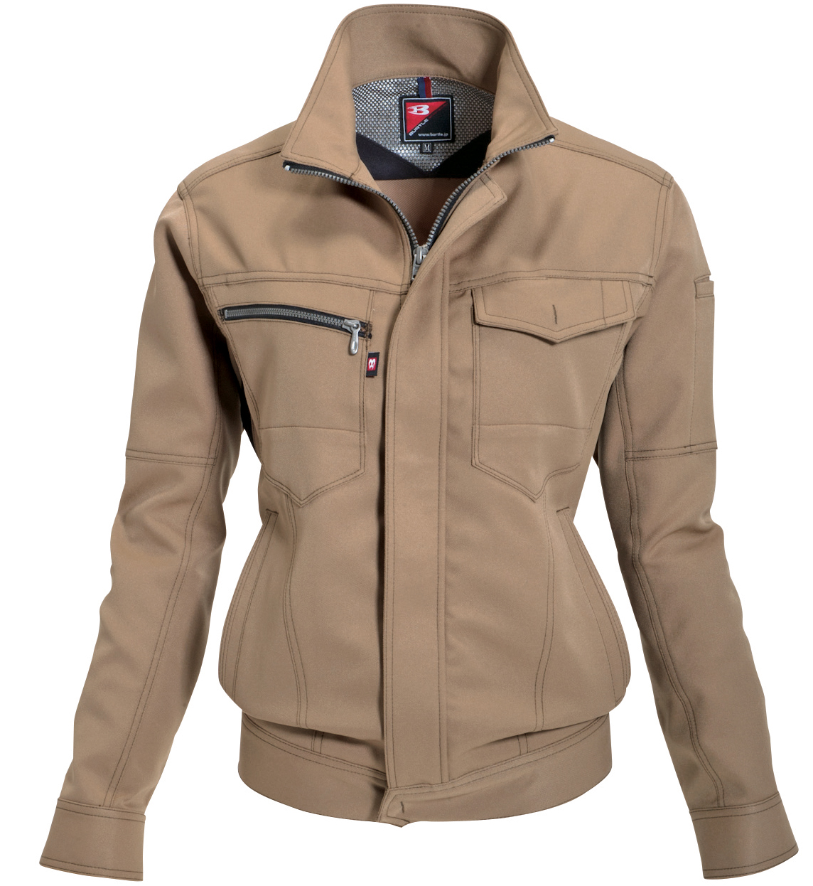 BURTLE~バートル~ 7088 レディースジャケット ★女性に人気のカラー、キャメル。可愛く決まります。