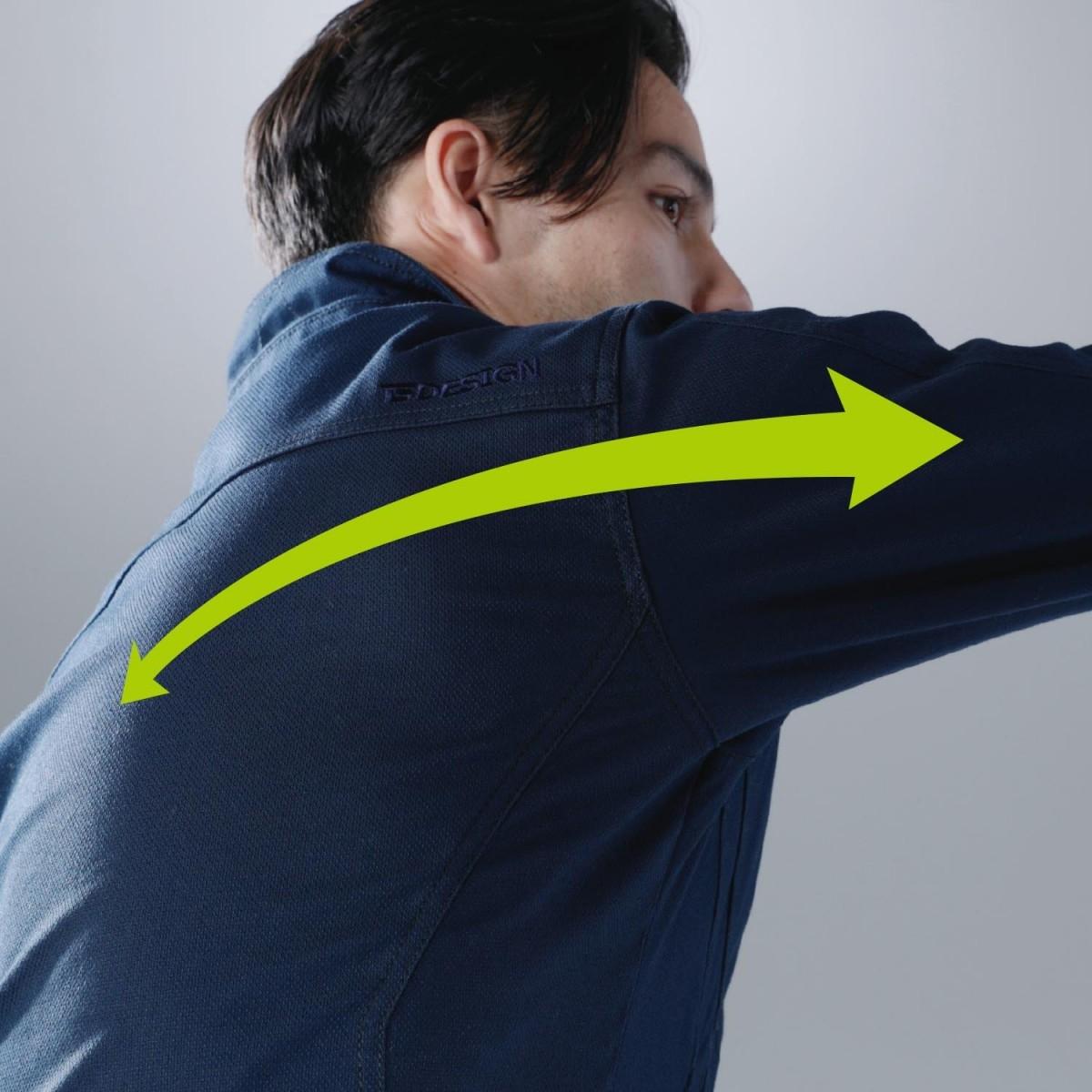 TS DESIGN 3516 ジャケット ¥5940(税込)アームもぐっと伸びる、抜群のストレッチ性。