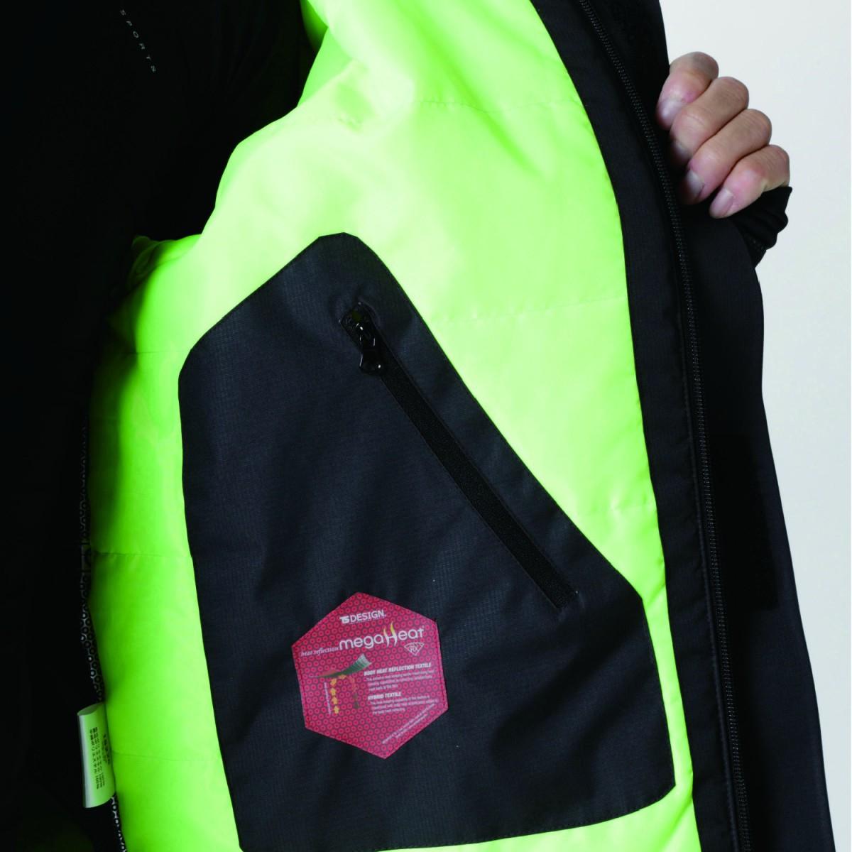 TS DESIGN  18236 メガヒートフラッシュ防水防寒ジャケット 内ポケットは大容量。