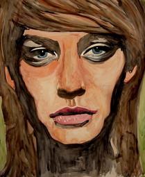 Sahra Aquarell 100 cm x 100 cm