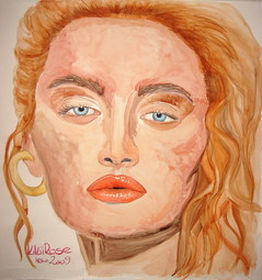 Rachel Aquarell 100 cm x 100 cm