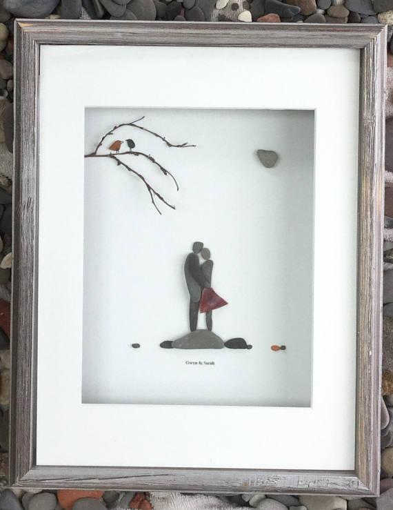 Pebble Art Romantic Couple