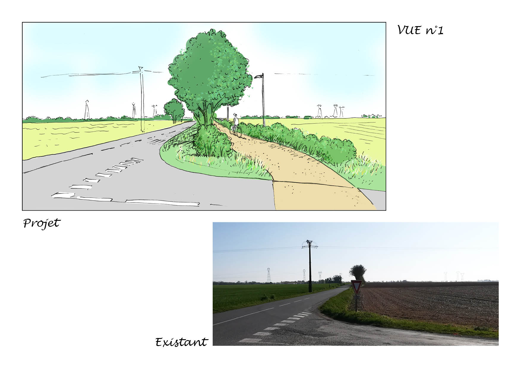 Etude piste cyclable Saint Rogatien - La Jarrie avec Sitea Conseil pour la CDA