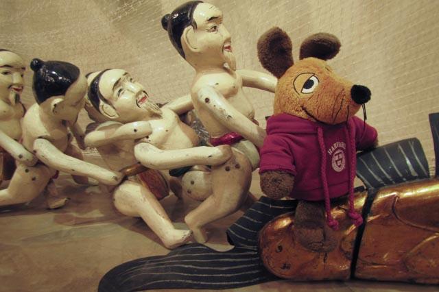 Neben dem Gruppenbild mit einem Teil der Puppen.....