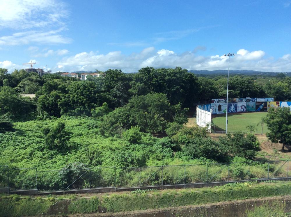 Blick aus dem Hotel in Managua