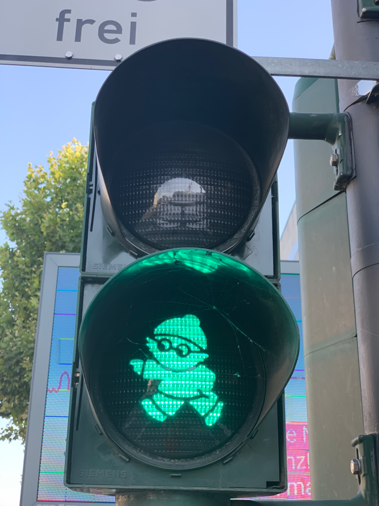 ....oder in grün