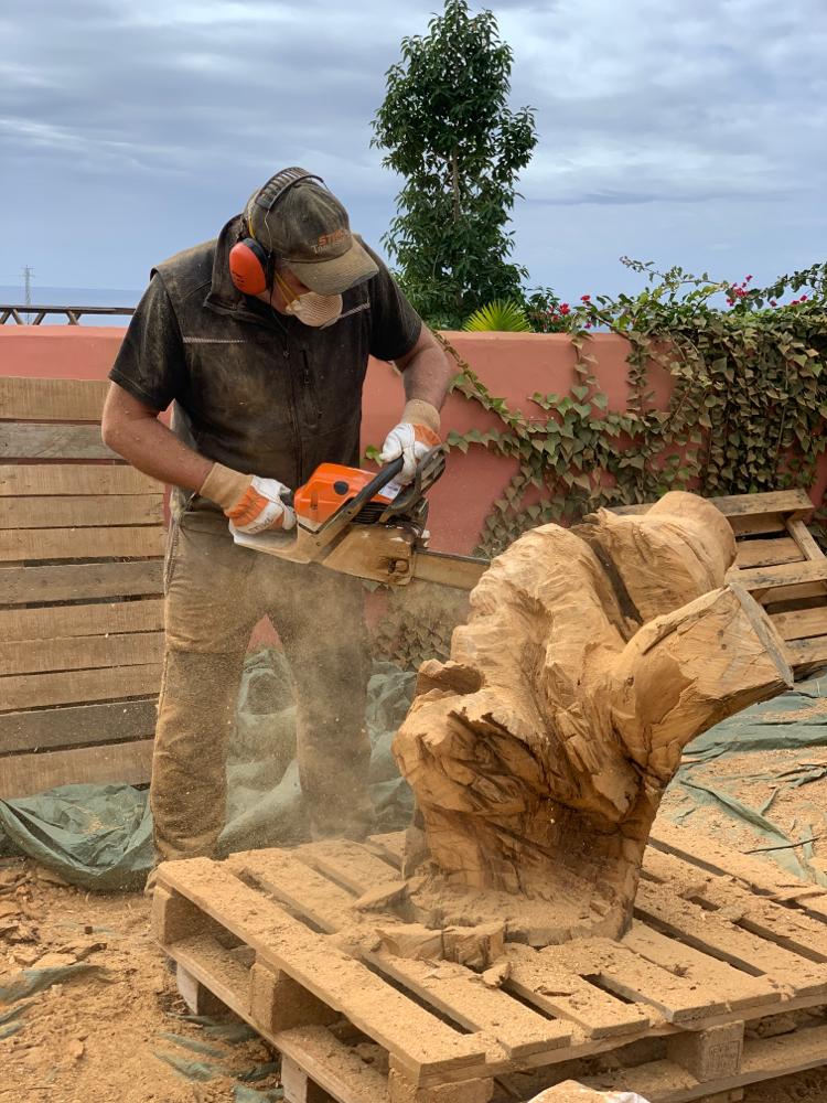 Stephan Guber bei der Arbeit