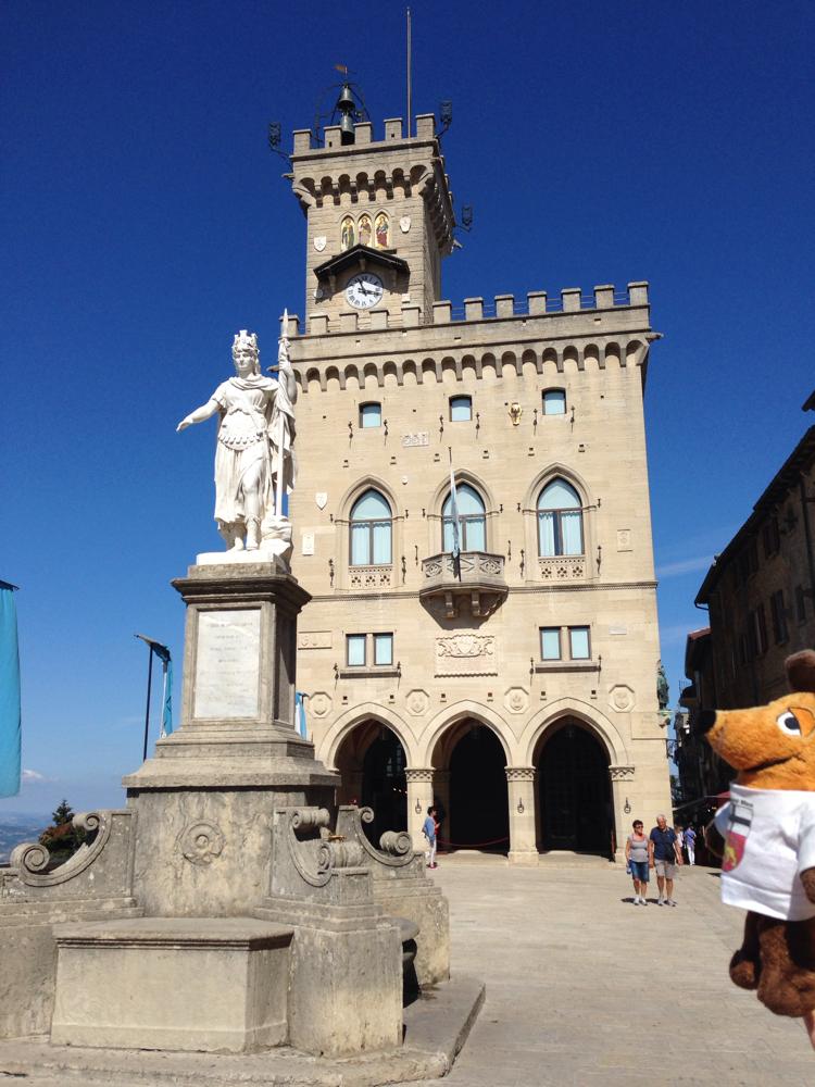 Der Regierungssitz von San Marino