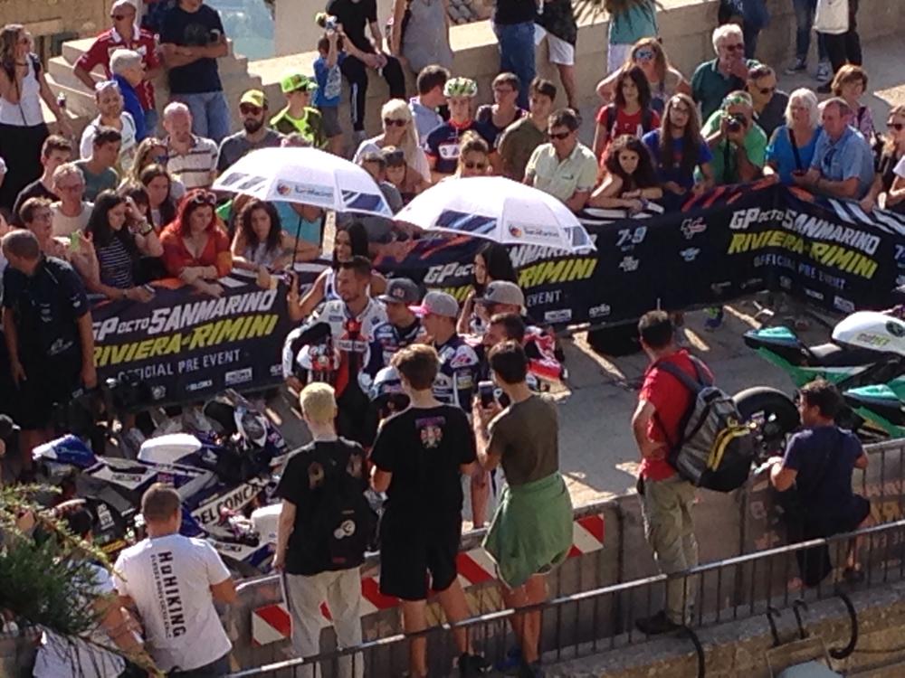 Gruppenbild der Rennfahrer
