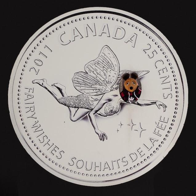 Die neu gestaltete kanadische 25 Cent Münze