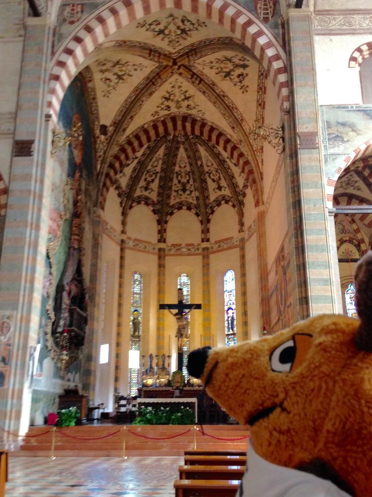 In der Basilica di Santa Anastasia - ich bin überwältigt, ....