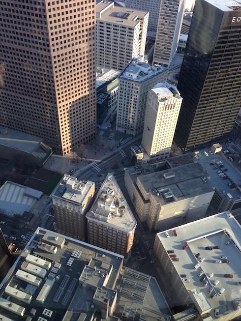 Blick von oben auf Atlanta Downtown