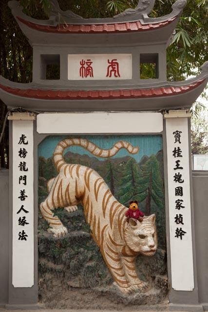 Der Tag begann spannend auf dem Rücken eines Tigers