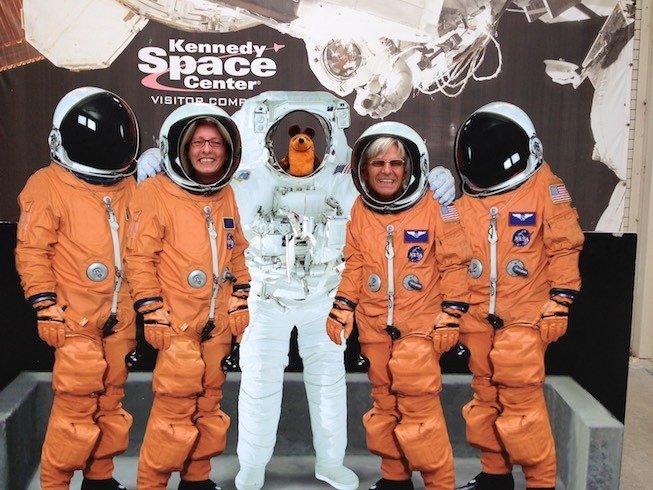 Wir Drei im Kennedy Space Center