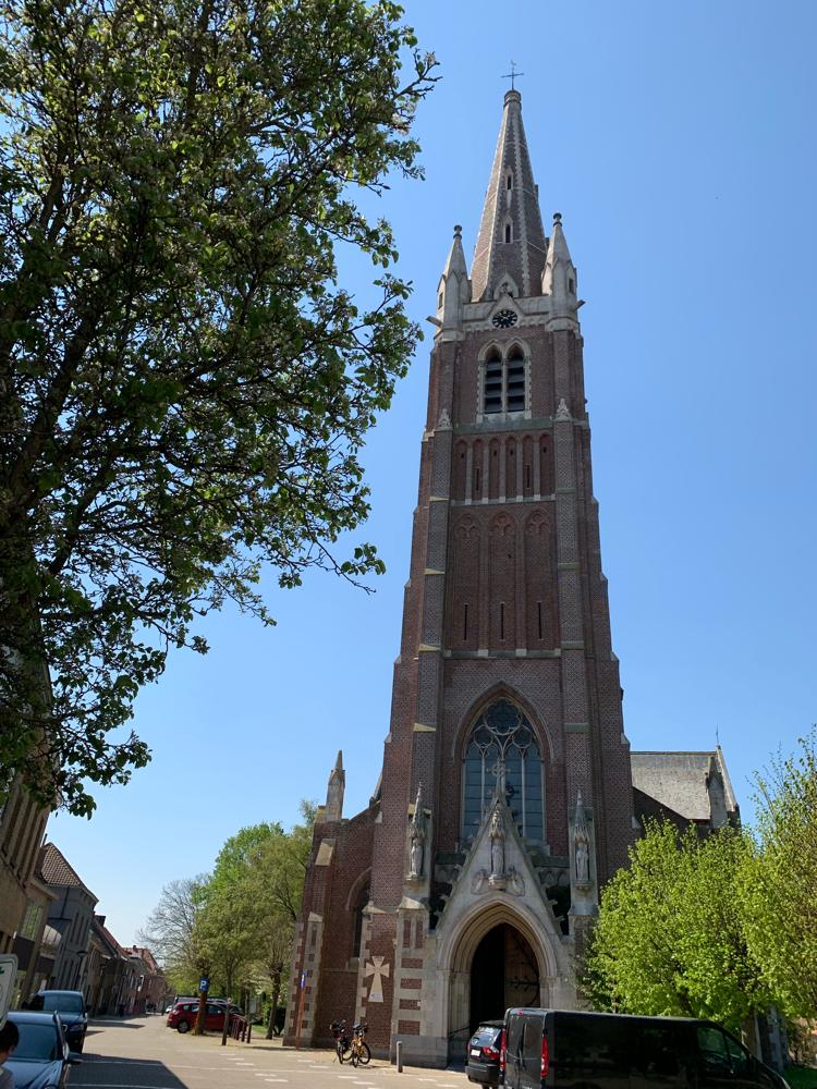 """Die """"Onze lieve Vrouwe Kerk"""" in Oudenburg"""