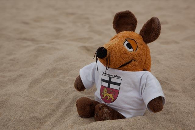 Trotz des bewölkten Wetters war der Sand angenehm warm