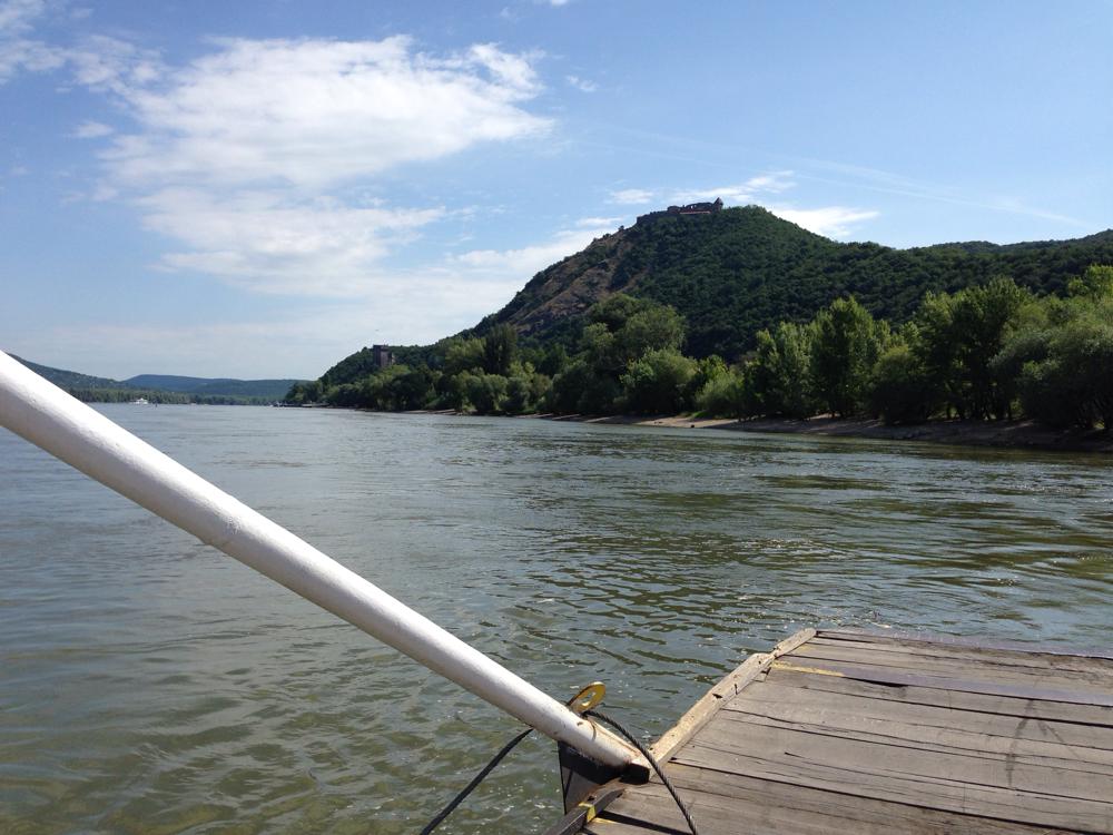 Ein letzter Blick auf die Burg Visegrad, bevor wir Richtung Budapest weiterradeln