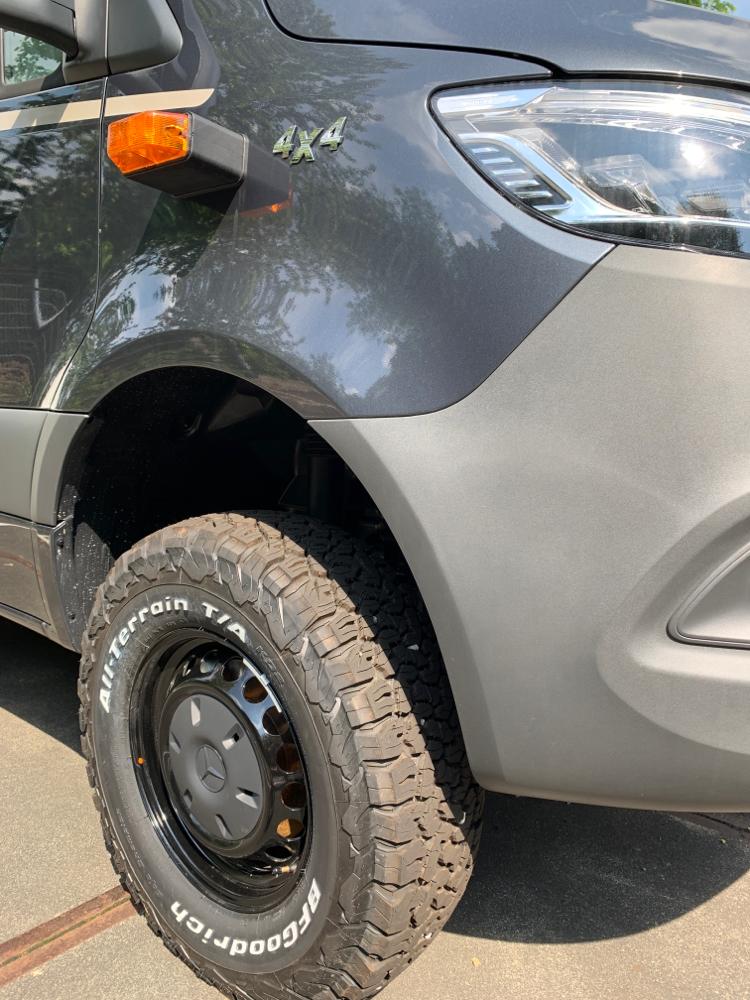 Mit diesen Reifen werden wir wohl kaum Probleme bekommen