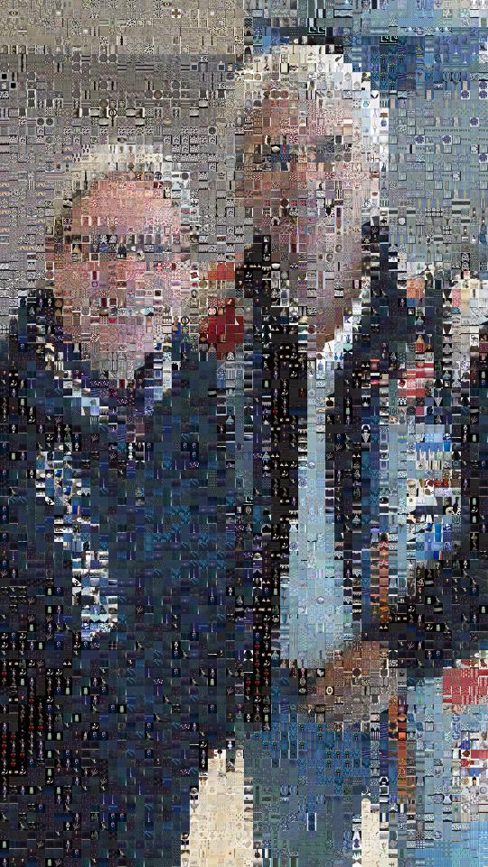 Ein Bild von uns - zusammengesetzt aus tausenden kleinen Bildchen.