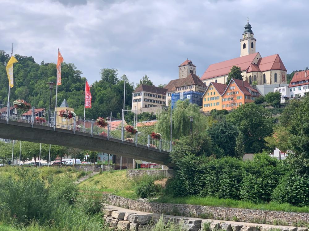 Horb am Neckar - es ist sehr schwül und der Wind kommt von vorne :-(