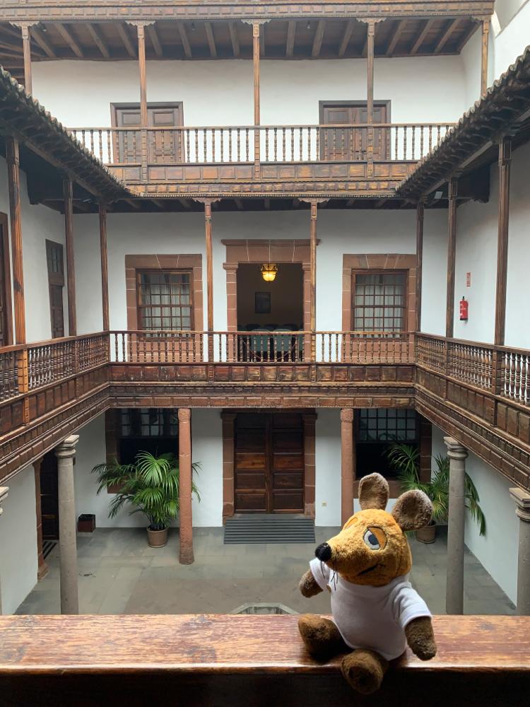 Im Innenhof der Casa Salazar