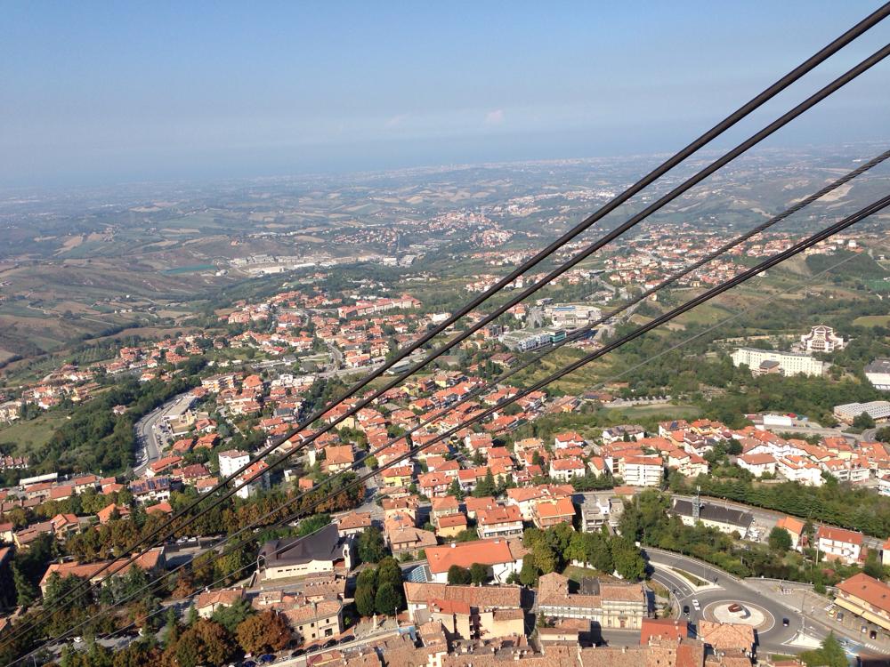 Am Horizont liegt Rimini und damit das Ende unserer Tour :-(