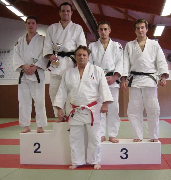 Franck en 1e place et Mickael en 3e à égalité (+ 81 kilos)