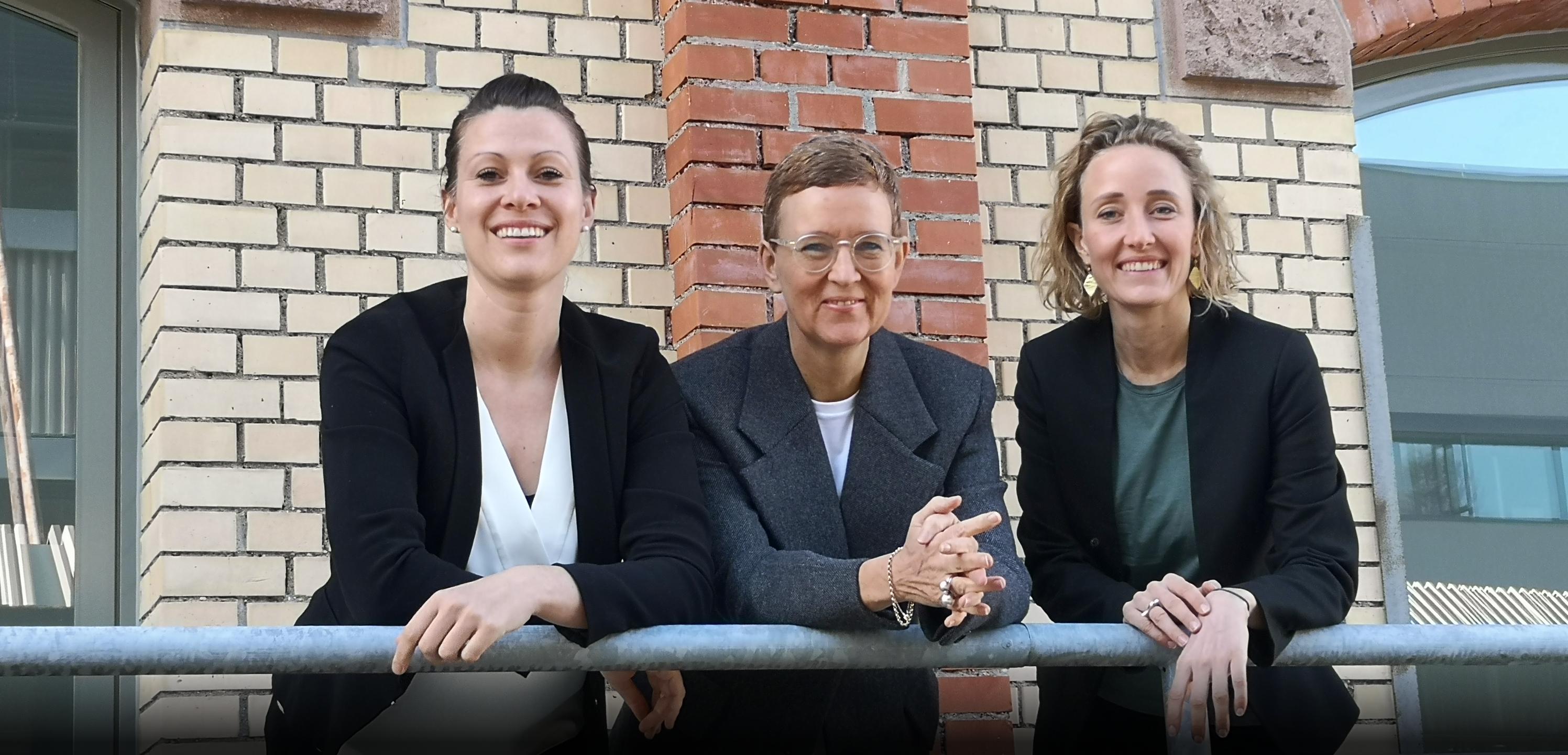 Esther Orgel, Christine Steiner Bächi und Katja Köder von KOS in Zürich.