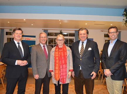 Die vier Bewerber um die Kandidatur zum Deutschen Bundestag