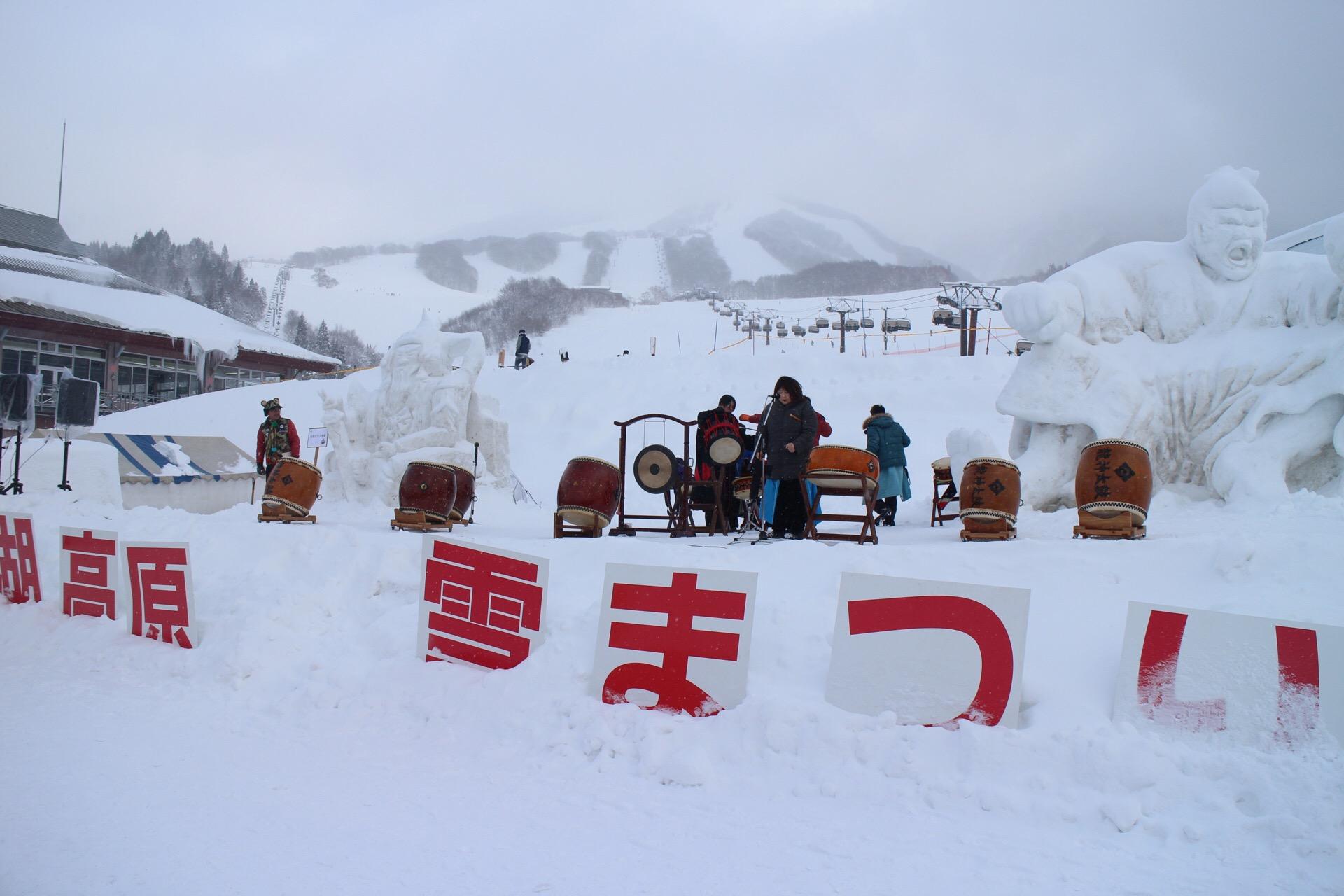 今年初公演は田沢湖高原雪まつりでの公演!