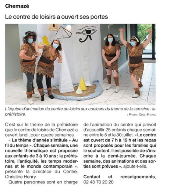 Ouest France du 07 juillet 2021