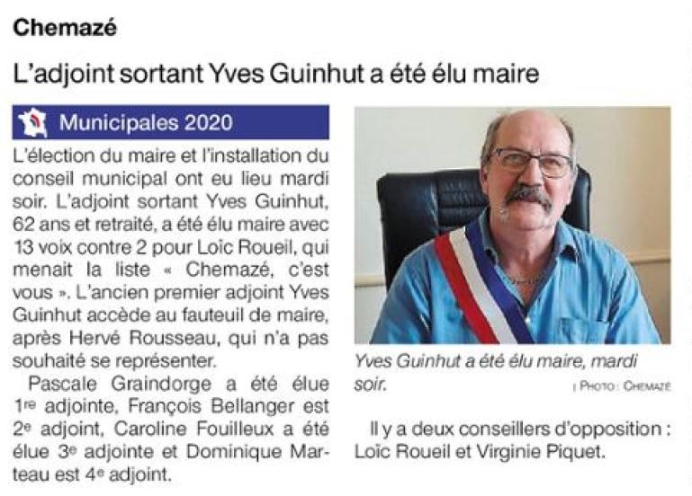 Ouest France du 28 mai 2020