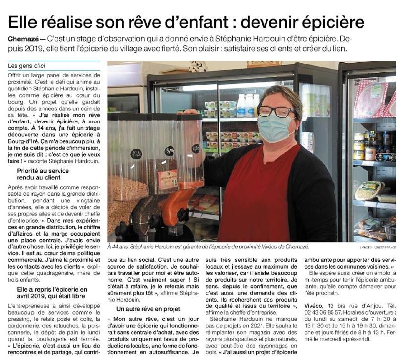 Ouest France du 18 décembre 2020