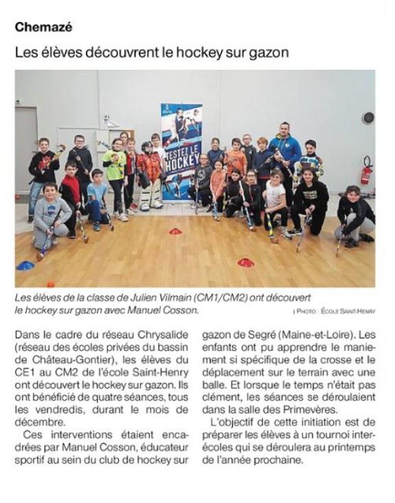 Ouest France du 18 décembre 2019