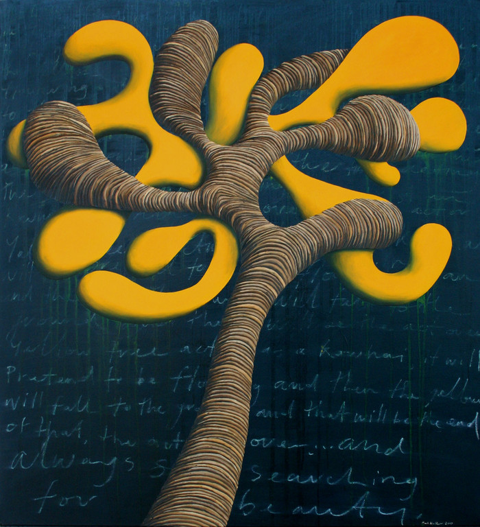 'The act of being a Kowhai',1220 x1220mm, oil on canvas