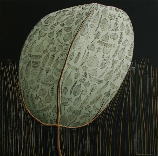 'New leaf',760 x760mm,oil on canvas.