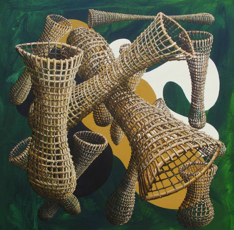 'Nets and inlets',760 x760mm, oil on canvas