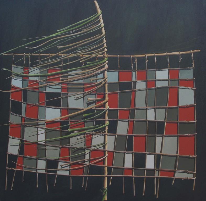 'Kite stream',760 x760mm, oil on canvas.