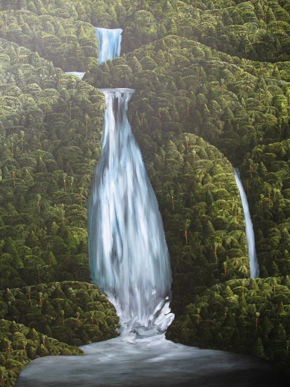 'The lost waterfall'1220 x1020mm, oil on canvas,2011