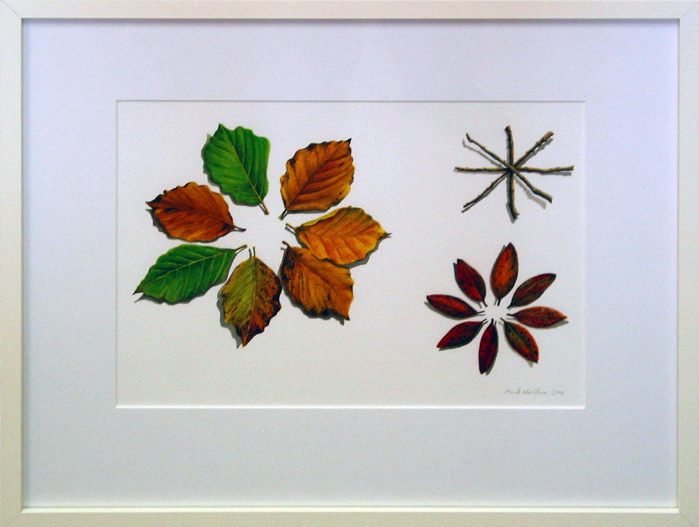 'Leaf poem', watercolour on paper.