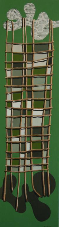 'Long net',300 x1120mm, oil on canvas