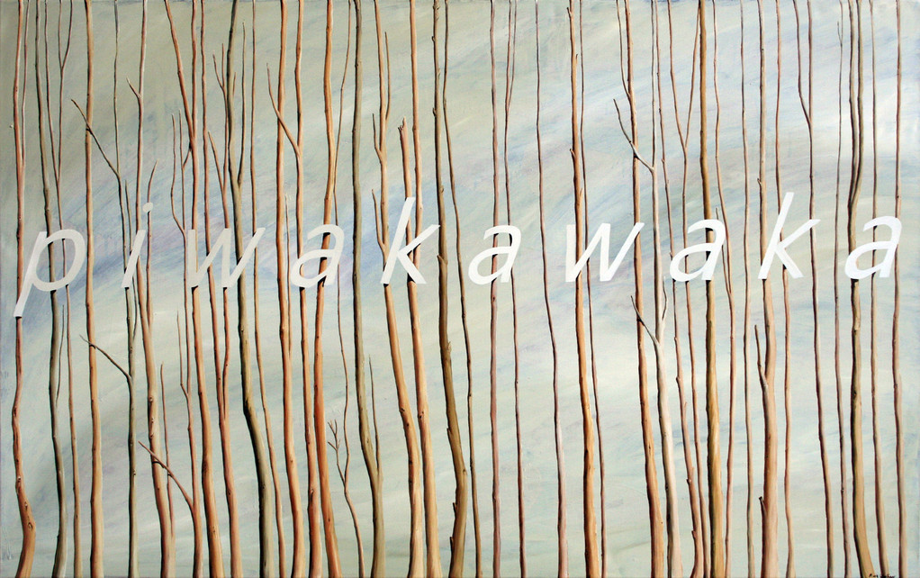 'Piwakawaka II', 800 x1275mm, oil on canvas.