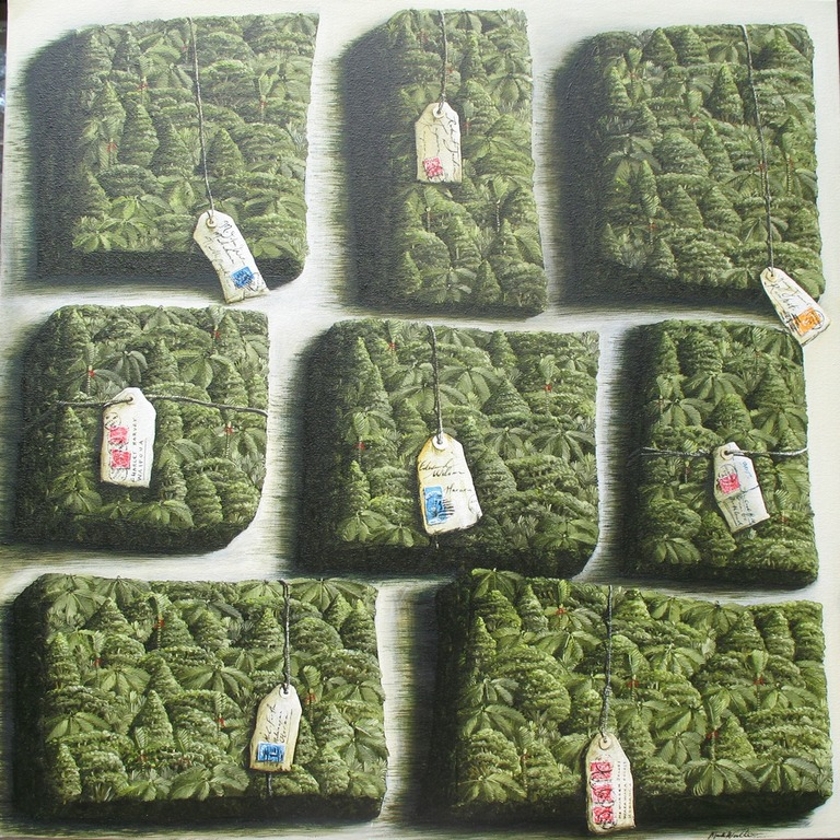 'Bush blocks' 760 x760mm