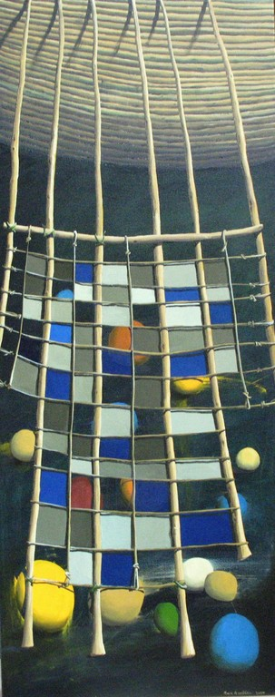 'Net by night',1120 x445mm,oil on canvas.