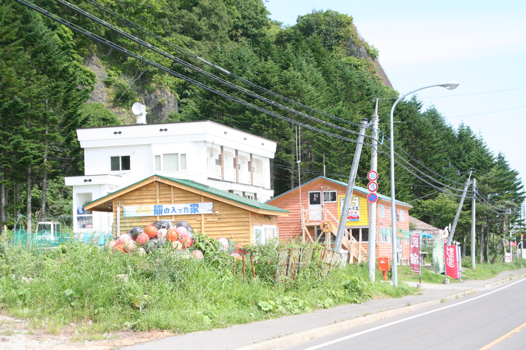 ヒグマの入った家を通過して。ひたすら知床半島の行き止まりを目指す。