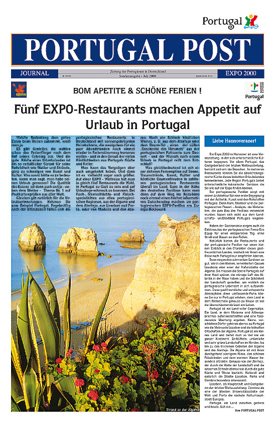 Capa da edição especial do PP dedicada à Expo 2000 em Hanover