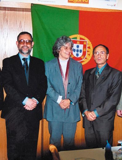 Deputado Carlos Luís, Conselheiro  Renato Calvário (falecido) e Piedade Gralha,  2000
