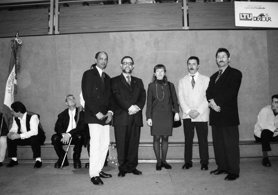 Consul de Osnabruck com deputado Carlos Luís e Nelson Rodrigues, 1999